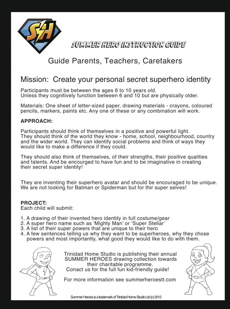 SUPERHERO GUIDE ONE PAGE